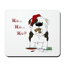 Bulldog Santa Mousepad