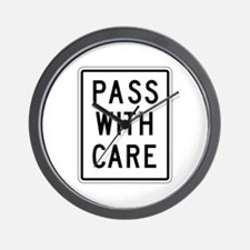 Pass With Care - USA Wall Clock