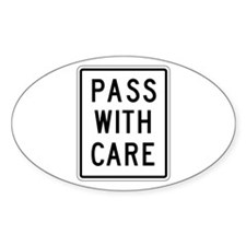 Pass With Care - USA Oval Decal