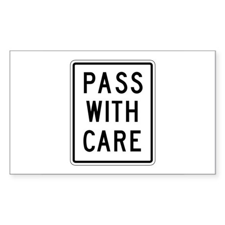 Pass With Care - USA Rectangle Sticker