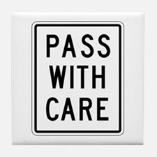 Pass With Care - USA Tile Coaster
