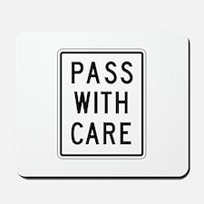Pass With Care - USA Mousepad