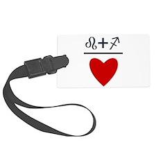 Leo + Sagittarius = Love Luggage Tag