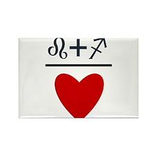 Leo + Sagittarius = Love Rectangle Magnet (100 pac