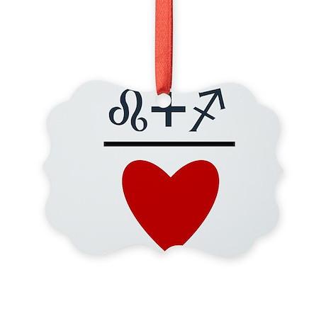 Leo + Sagittarius = Love Picture Ornament