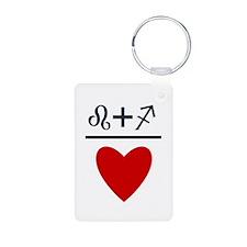 Leo + Sagittarius = Love Keychains