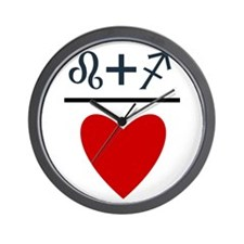 Leo + Sagittarius = Love Wall Clock