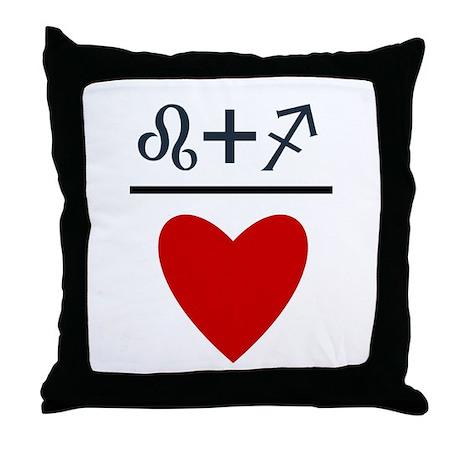 Leo + Sagittarius = Love Throw Pillow