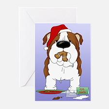 Bulldog Santa Greeting Cards (Pk of 10)