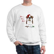Bulldog Santa Sweatshirt