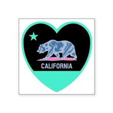 "Love Cali Square Sticker 3"" x 3"""