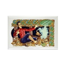 Aladdin's Lamp Rectangle Magnet