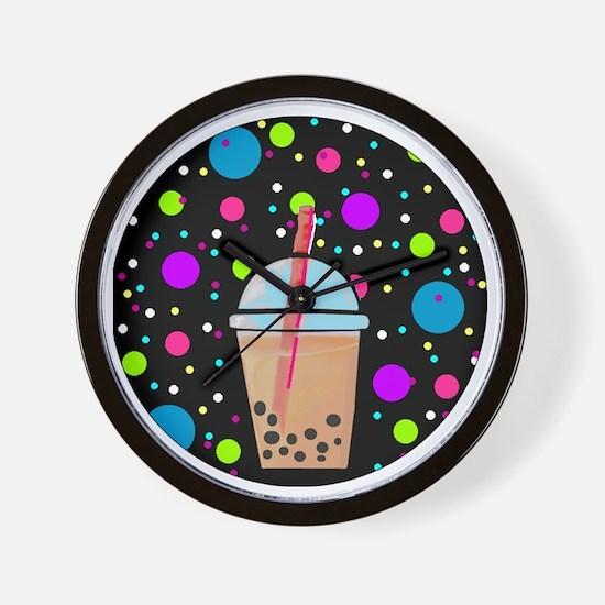 Bubble Tea Wall Clock
