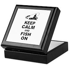 Keep Calm and Fish On Keepsake Box