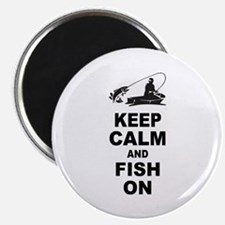 Keep Calm and Fish On Magnet