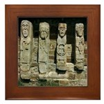 White Island Figures Framed Tile