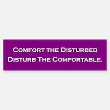 Comfort the Disturbed Bumper Car Car Sticker