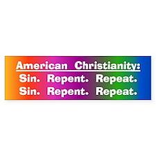 Sin. Repent. Repeat. Bumper Bumper Sticker