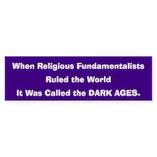 Dark Ages Bumper Car Sticker