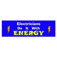 Electricians Do It Bumper Bumper Bumper Sticker