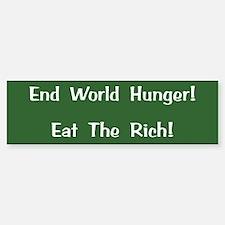 End World Hunger Bumper Bumper Stickers