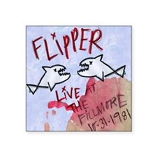 "Flipper Live at the Fillmor Square Sticker 3"" x 3"""