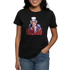 """Uncle Sam """"Own Firearms"""" Wmn's Dark Tee"""