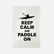 Keep Calm and Paddle On Rectangle Magnet (100 pack