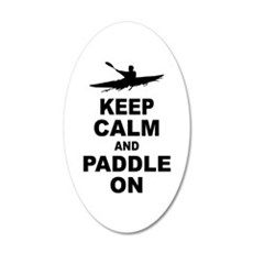 Keep Calm and Paddle On Wall Decal