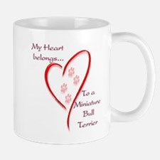 Mini Bull Terrier Heart Belongs Mug
