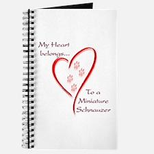 Mini Schnauzer Heart Belongs Journal
