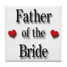Father of the Bride #2 Tile Coaster