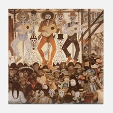 Diego Rivera Art Tile Coaster -Day of the Dead