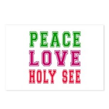 Peace Love Holy See Postcards (Package of 8)
