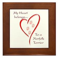 Norfolk Heart Belongs Framed Tile