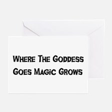 Where The Goddess Goes Greeting Cards (Package of