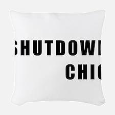 SHUTDOWN CHIC Woven Throw Pillow