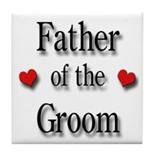 Father of the Groom #2 Tile Coaster
