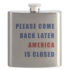 AMERICA IS CLOSED Flask