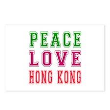 Peace Love Hong Kong Postcards (Package of 8)