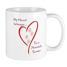 Norwich Heart Belongs Mug