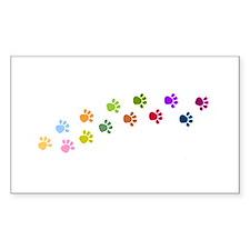 Paw Prints Rectangle Bumper Stickers