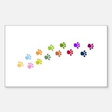 Paw Prints Rectangle Decal