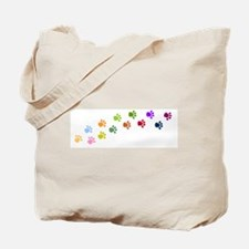 Paw Prints Tote Bag