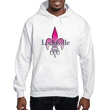 Pink Fleur de Lis Louisville Hoodie