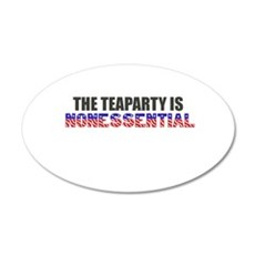 The Teaparty is Nonessential Shutdown Wall Decal
