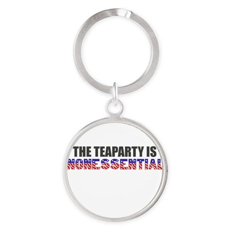 The Teaparty is Nonessential Shutdown Keychains