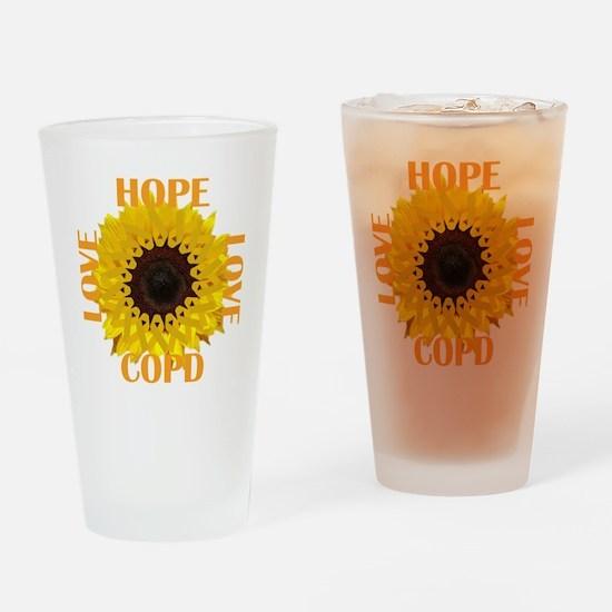 COPD Hope Sunflower Drinking Glass