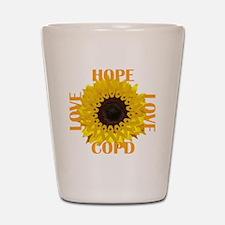 COPD Hope Sunflower Shot Glass