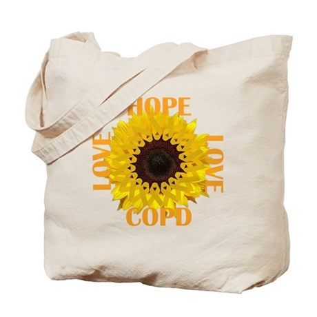 COPD Hope Sunflower Tote Bag